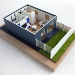 Maquette démontable maison