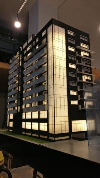 Maquette d'architecture immeuble