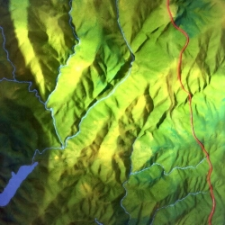 Maquette d'exposition topographique