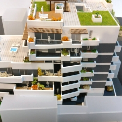 Maquette immeuble appartements