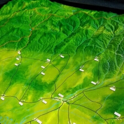 Maquette topographique expositions