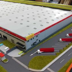 Maquette architecturale entrepôt
