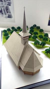 Maquette bois église