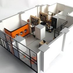 Maquette d'aménagement intérieur