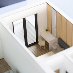 Maquette d'un interieur appartement