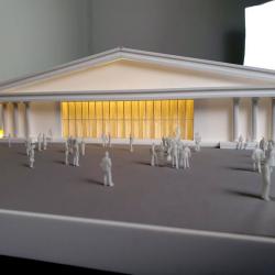 Maquettes d'architecture éclairées