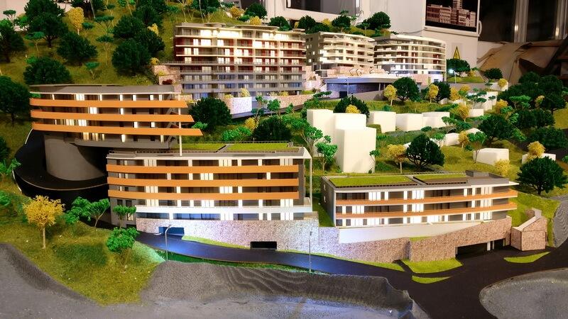 Maquette d'un complexe immobilier à Monaco