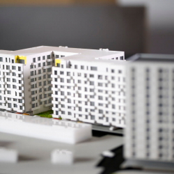 Maquette bâtiment d'appartements