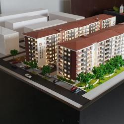 Maquette bâtiment d'appartements