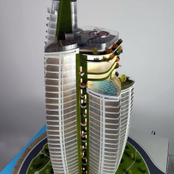 Maquette d'architecture gratte ciel