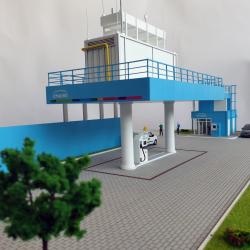 Maquette industrielle station Engie