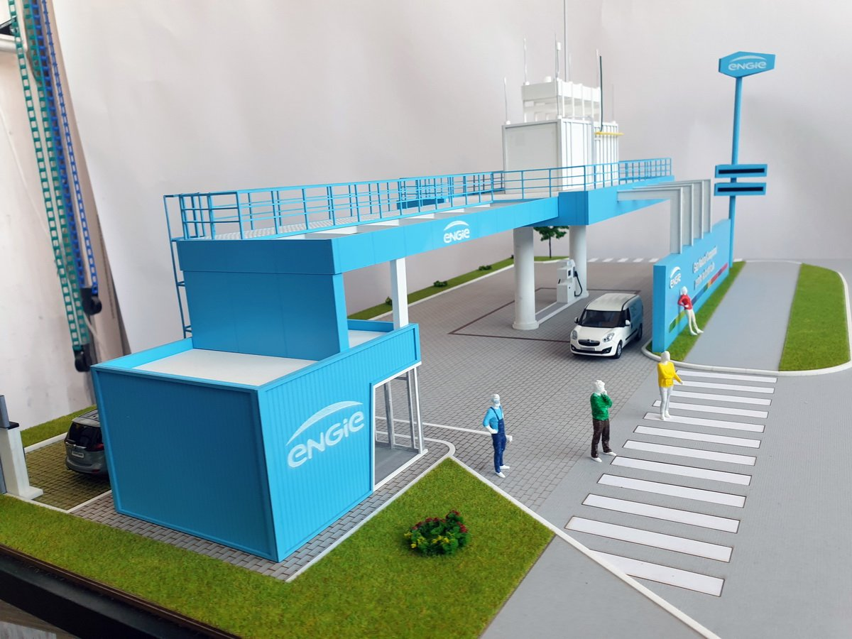 Maquette industrielle – station Engie