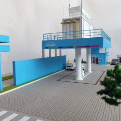 maquette station Engie