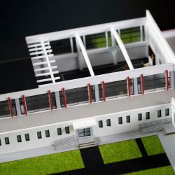 modèle architectural salle sport