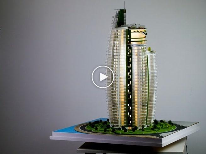 Maquette d'architecture gratte-ciel