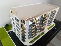 Maquette d'un immeuble appartements