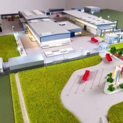 Maquette industrielle usine