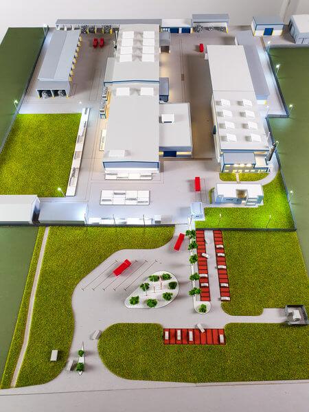 Maquette de l'usine Hammerer
