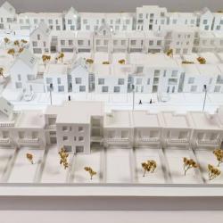 Maquette complexe de bâtiments
