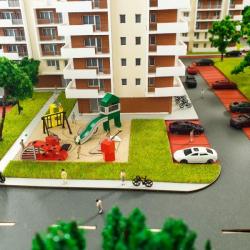 Maquette d'un ensemble immobilier