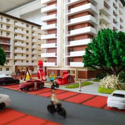 Maquette d'un immeuble appartements