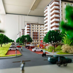 Maquette immeuble appartements