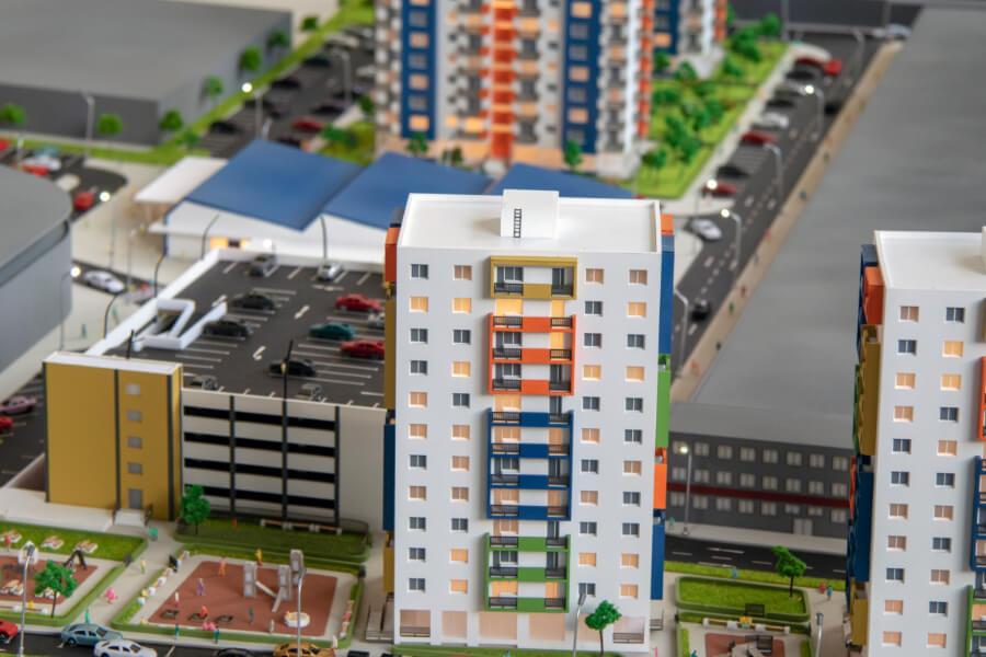 Maquette du Projet Immobilier -Brick